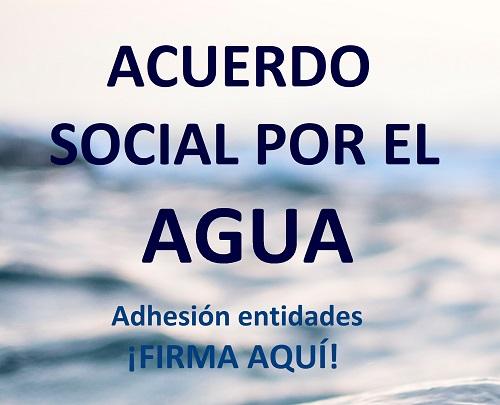 Firma el ACUERDO SOCIAL por el AGUA