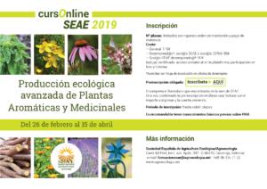 Curso online: Producción ecológica avanzada de Plantas Aromáticas y Medicinales @ Plataforma de Formación SEAE