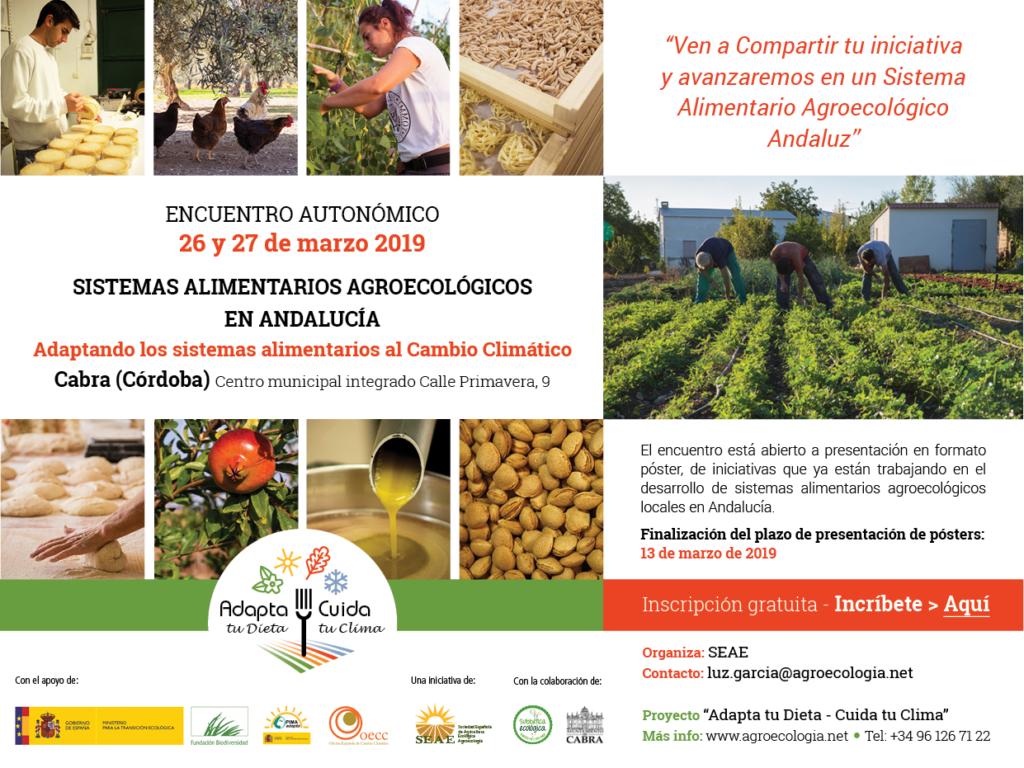 Encuentro autonómico: Sistemas alimentarios agroecológicos en Andalucía @ Centro municipal integrado. Calle Primavera, 9. Cabra (Córdoba)