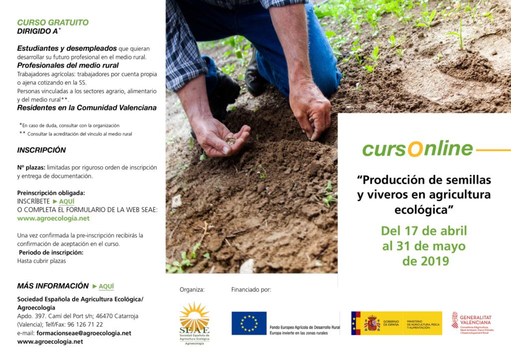 Curso online: Producción de Semillas y Viveros en Agricultura Ecológica @ Plataforma de Formación SEAE