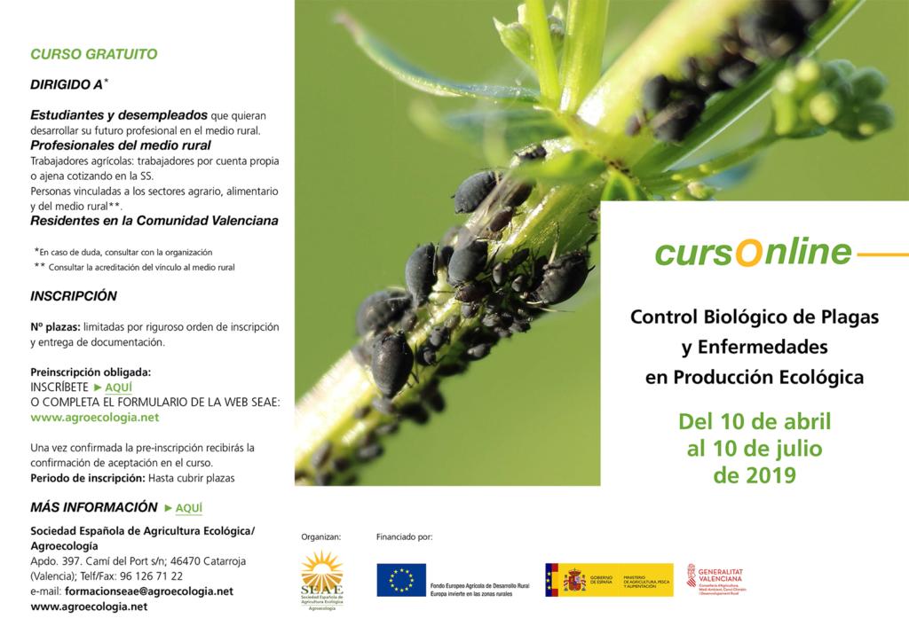Curso online: Control Biológico de Plagas y Enfermedades en Producción Ecológica @ Plataforma de Formación SEAE