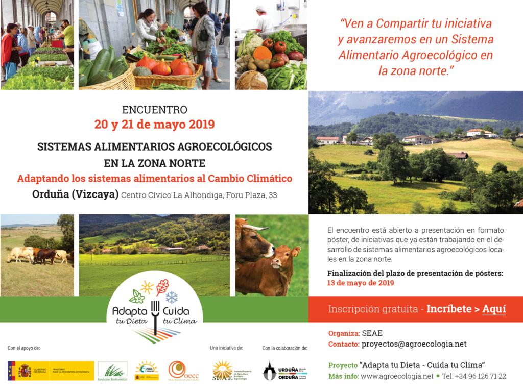 Encuentro autonómico sistemas alimentarios agroecológicos en la zona norte. Orduña (Vizcaya), 20-21 mayo 2019 @ Orduña (Vizcaya), Centro Cívico La Alhondiga, Foru Plaza, 33