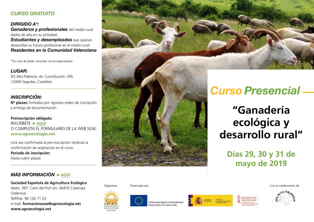"""Curso: """"Ganadería ecológica y desarrollo rural"""" @ IES Alto Palancia, Av. Constitución, S/N, 12400 Segorbe, Castellón"""