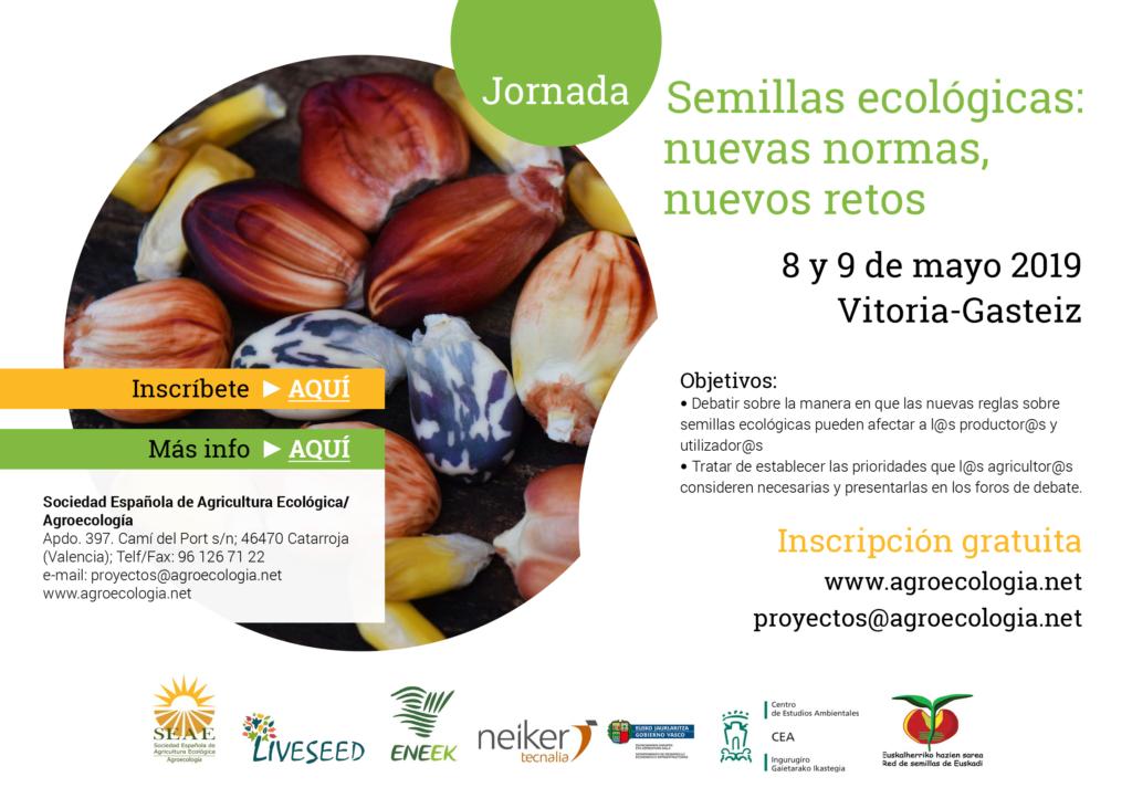 """Jornada LIVESEED: """"Semillas ecológicas: nuevas normas, nuevos retos"""" @ Vitoria-Gasteiz (Álava) (ubicaciones en el programa)"""