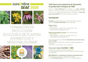 Formación online de producción ecológica de plantas aromáticas y medicinales @ Plataforma de Formación SEAE