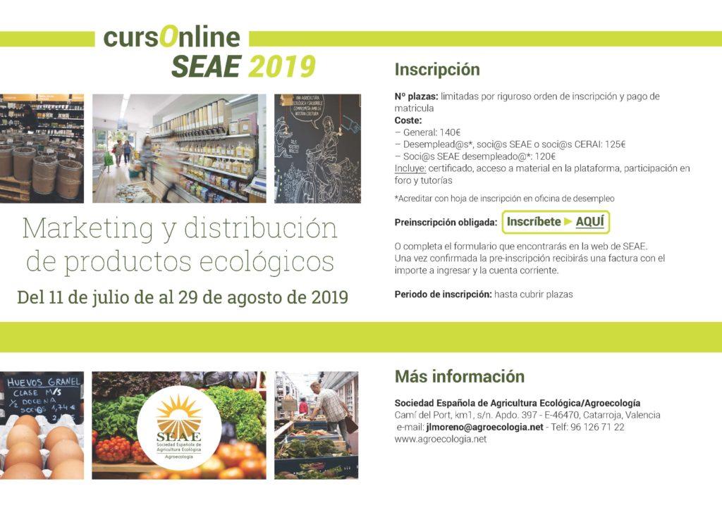 """Curso online: """"Marketing y distribución de productos ecológicos"""" @ Plataforma de Formación SEAE"""