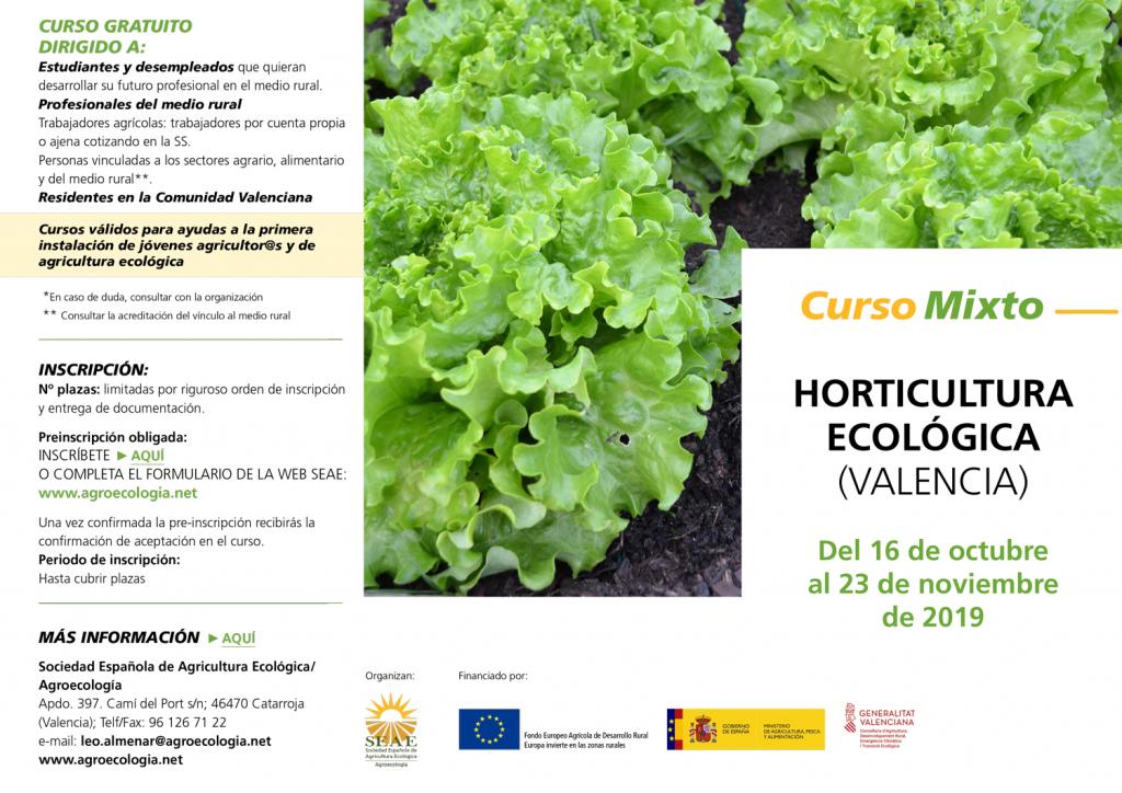 Curso mixto: Horticultura ecológica @ Plataforma de Formación SEAE. La ubicación de la sesión presencial se indicará a l@s alumn@s