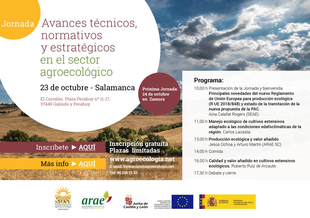 Jornada: Avances técnicos, normativos y estratégicos en el sector agroecológico @ El Corralón. Plaza Perahuy nº 11-17, 37449 Galindo y Perahuy, Salamanca