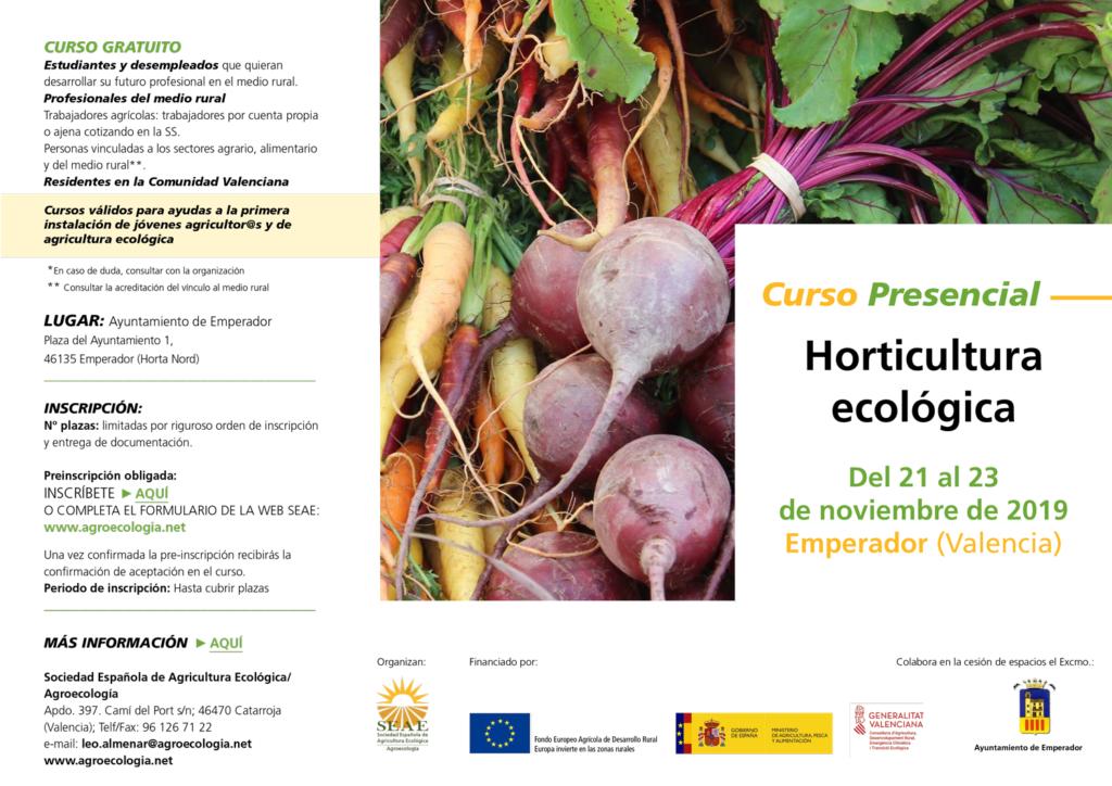 Curso presencial: Horticultura ecológica @ Ayuntamiento de Emperador. Plaza del Ayuntamiento 1, 46135 Emperador (Valencia)