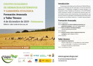 Cultivo ecológico de herbáceos/extensivos y ganadería ecológica. Formación avanzada y taller técnico @ IRNASA. Calle Cordel de Merinas, 40. Salamanca