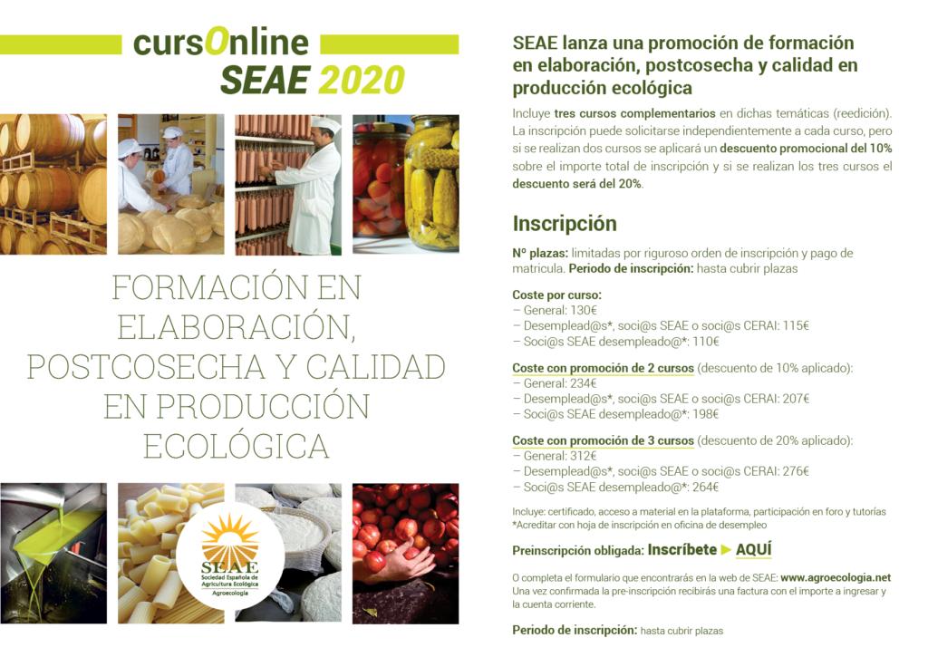 Formación en elaboración, postcosecha y calidad en producción ecológica @ Plataforma de Formación SEAE