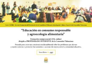 Educación en consumo responsable y agroecología alimentaria - Curso para PROFESORADO INTERNIVEL Comunitat Valenciana