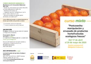 """Curso mixto: """"Postcosecha: manipulación y envasado de productos hortofrutícolas ecológicos frescos @ Plataforma de Formación online de SEAE"""