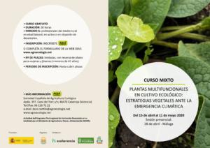 Curso Mixto Plantas multifuncionales en cultivo ecológico: estrategias vegetales ante la emergencia climática @ Plataforma de Formación SEAE