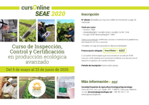 Curso online de Inspección, Control y Certificación en producción ecológica avanzado @ Plataforma SEAE de Formación Online