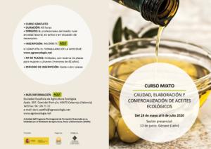 Curso mixto: Calidad, elaboración y comercialización de aceites ecológicos @ Plataforma SEAE de Formación Online