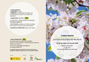 Curso mixto: Cultivo ecológico de frutales @ Plataforma SEAE de Formación Online. La sesión presencial se detalla en la ficha del curso