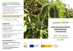 """Curso online: """"Cultivo ecológico subtropical (aguacate)"""" @ Plataforma SEAE de Formación Online"""