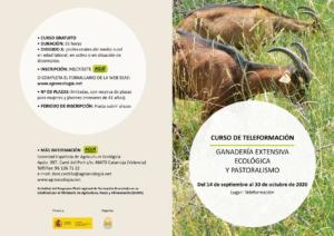 Curso Teleformación: Ganadería extensiva ecológica y pastoralismo @ Plataforma SEAE de Formación Online