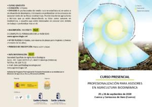 """Curso Presencial """"Profesionalización para asesores en agricultura biodinámica"""". Cuenca, 25-26 septiembre 2020 @ Cuenca"""