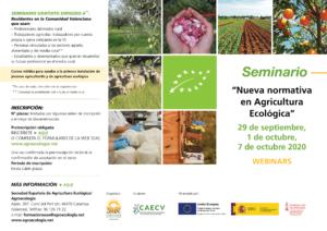 """Seminario: """"Nueva normativa en Agricultura Ecológica"""" @ Plataforma SEAE de eventos online"""