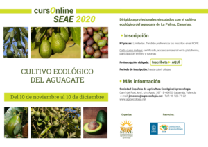 Curso online: Cultivo ecológico del aguacate