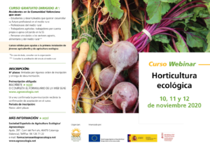 "Curso Webinar ""Horticultura Ecológica"""