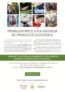 Reunions per a especialistes-Proces participatiu del II Pla Valencià de Producció Ecològica de la Comunitat Valenciana (II PV PE)