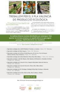 Reunions amb operadors ecològics de la Comunitat Valenciana - II Plà Valencià Producció Ecològica @ Online