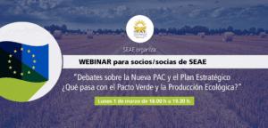 Webinar: ¿Qué pasa con el Pacto Verde y la Producción Ecológica? @ Plataforma Zoom de SEAE
